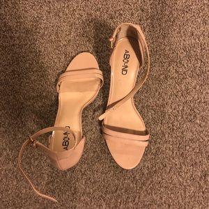 Nude pink straps heels